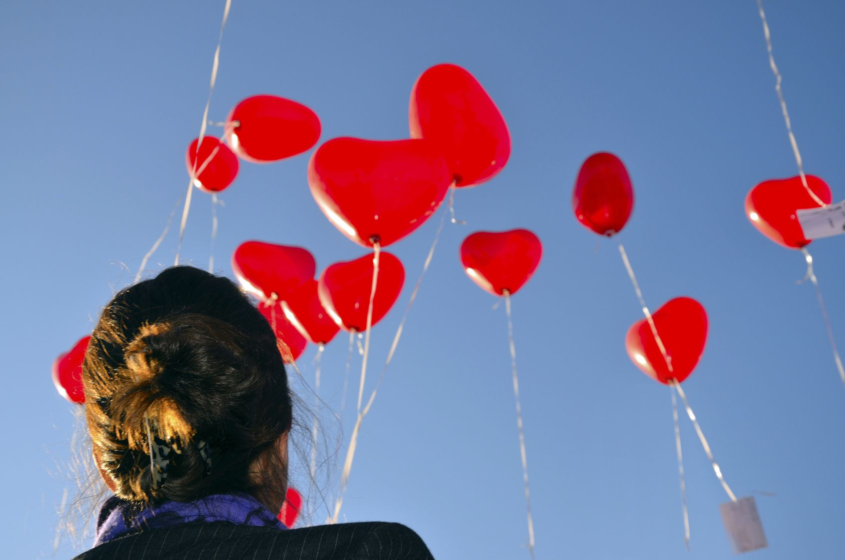 Luftballonherzen