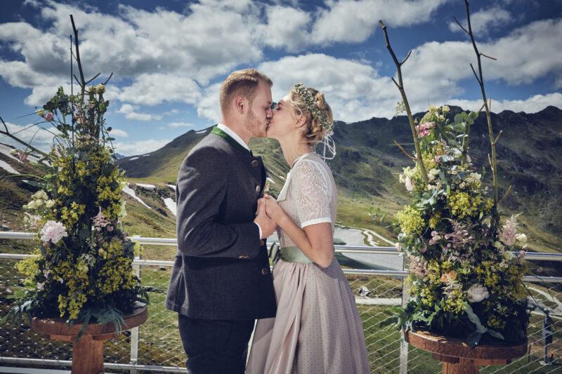 Ein Elopement in den Bergen - heiraten zu Zweit